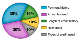 Source: FICO (Factors that affect the Credit Score)