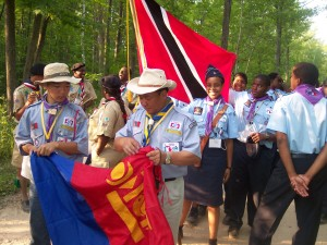scouter - ceremony - Flag - Mongolian Scout - 2004 - Michigan - Michigan International Camporee - International Scout - Boy Scouts - Scouts - Mongolia