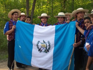 scouter - ceremony - Flag - International Scout - Guatemala Scout - Guatamala - 2004 - Guatemala - Michigan - Michigan International Camporee - Boy Scouts - Scouts