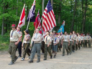 Michigan - Michigan International Camporee - Boy Scouts - Scouts - ceremony - Flag - International Scout - 2004
