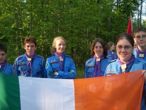 uniform - Michigan - Michigan International Camporee - Irish Flag - Boy Scouts - Scouts - Ireland - Irish - ceremony - Flag - Irish scout - International Scout - 2004