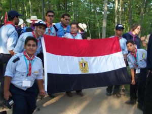 Michigan - Michigan International Camporee - Boy Scouts - Scouts - Egypt - Egyptian Scout - ceremony - Flag - International Scout - 2004