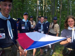 Republic - ceremony - Flag - International Scout - 2004 - Chech Scout - Czeck - Michigan - Michigan International Camporee - Czech Republic - Boy Scouts - Scouts - Czech