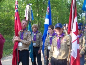 ceremony - Flag - Michigan International Camporee - 2004 - Michigan - Canadian Scouts - International Scout - Boy Scouts - Canada - Scouts