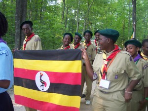 ceremony - Flag - International Scout - Uganda Scout - Udanda - 2004 - Michigan - Michigan International Camporee - Boy Scouts - Scouts