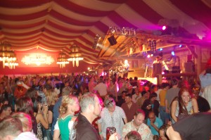 Inside a German beer tent