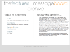 Features Message Board Archive