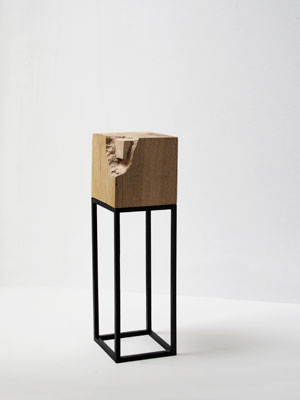 Nina Beier, Non Finito Series, Wood, metal, 20 x 20 cm, 2009