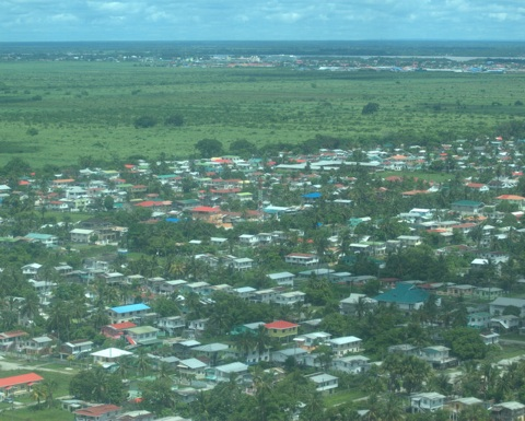 The outskirts of Georgetown, Guyana