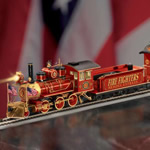 Firefighters Express Train Collection - Firefighters Collectible Illuminated Express Train Set Honors Americas Heroes! An Exclusive Heirloom-quality Treasure!