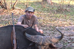 Michael @ 15 with CZ 550 416 Rigby Cape buffalo@ 45YDs.