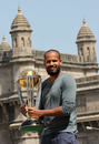 Yusuf Pathan poses with the World Cup, Mumbai, April 3, 2011