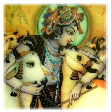 krishna and the cows: