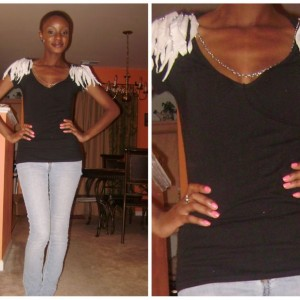 Bitchie Look for Less: DIY - Glam Up an Old T-Shirt