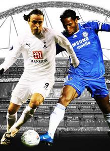 Football Carling Cup Final Chelsea Tottenham Berbatov Drogba