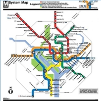 Here is a map of the DC Metro System