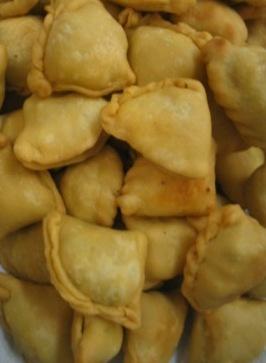 kurma's flakey samosas: