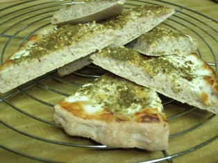 bread, labneh and za'atar: