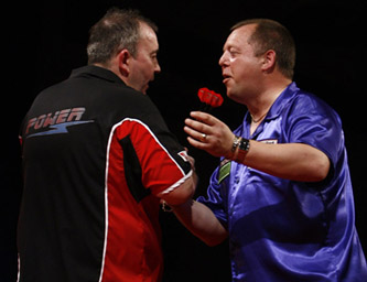 Phil Taylor & Mervyn King - Whyte & Mackay Premier League Darts (Lawrence Lustig, PDC)