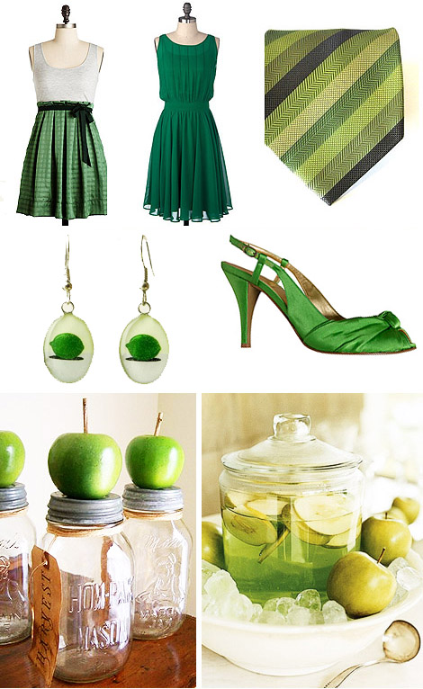 Splash of Color: Green Chic Theme