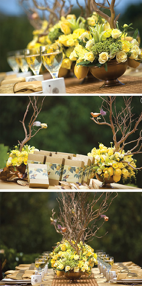 Yellow Reception Centerpieces