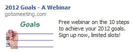 Facebook Ads for an upcoming webinar