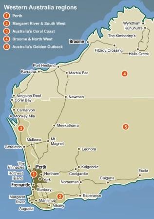 western-australia-map: