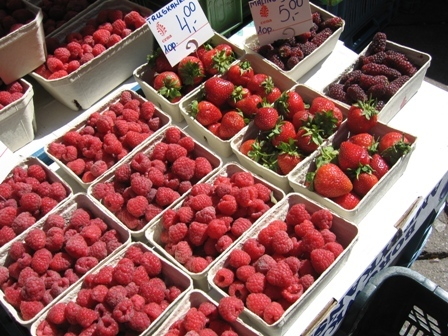 raspberries strawberries and mulberries: