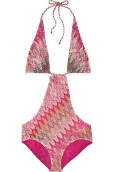 Missoni�Amalfi cutout woven one-piece
