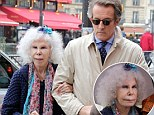 Spain's Duchess of Alba and her younger dashing husband were still very much enjoying married life as they stepped out for a lunch date in Paris