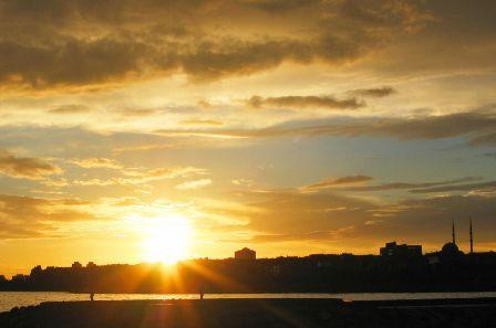 sunset over the marmara: