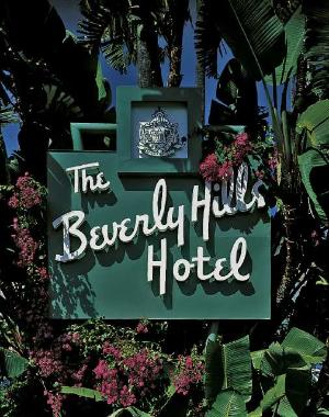 The main entrance to the Beverly Hills Hotel.