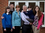 Laura and Mark Clark with children Lydia, Sam, Ella and Catherine
