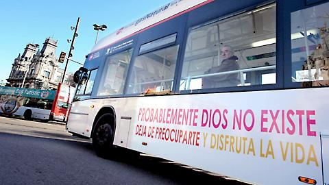 The Atheist Bus Campaign has also reached Barcelona