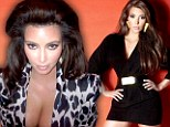 Big and bold! Buxom Kim Kardashian pumps up the volume with high hair and oversized earrings as she revisits the Eighties for Sears shoot