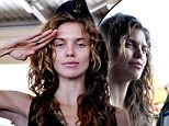 We salute you, too! AnnaLynne McCord continues her make-up free tour of duty