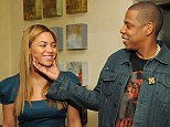 She's so cute! Jay-Z couldn't resist pinching his beautiful wife's cheeks at the event, held in New York
