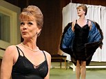 Miss Moneypenny! Samantha Bond is a far cry from 007's secretary as she gets risque on stage in What The Butler Saw