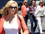 Camille Grammer lunches with ex-Real Housewives castmates Kim and Kyle Richards