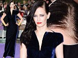 Eva...Grey? Miss Green's light roots spoil her sleek gothic glamour style at Dark Shadows film premiere