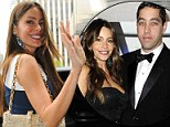 Single in the city: Sofia Vergara managed a smile as she stepped out in New York today