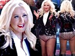 Attention-seeking Christina Aguilera steals the spotlight once again in a pair of sparkly hot pants on The Voice season finale