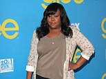 Waving goodbye: Amber Riley's character Mercedes is graduating so she's tweeted that she's saying goodbye to Glee