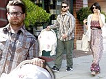 Oh baby! Jack Osbourne and fiancée Lisa Stelly step out with new daughter Pearl for the first time