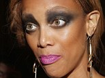 Halloween comes early: Tyra Banks overdid the makeup for the annual Moth Ball in New York City last night