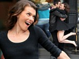 Dancing in the street! Milla Jovovich's unleashes her Manhattan moves in sexy shoot