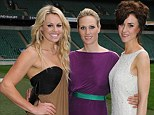 Belles of the ball: Zara Phillips, Chemmy Alcott and Katherine Kelly all looked radiant at tonight's Rugby For Heroes Gala dinner at Twickenham stadium