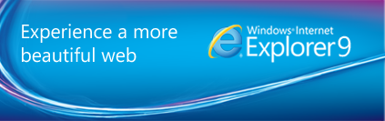 Internet Explorer 9 – Our new improved browser. Download Free today