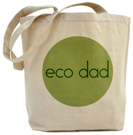 Green custom tote bags bag for a sustainable planet.