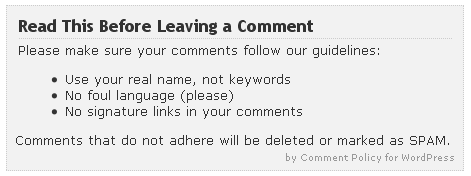 Comment Policy Plugins for WordPress